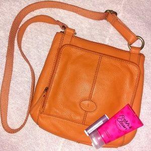 Orange Fossil Bag
